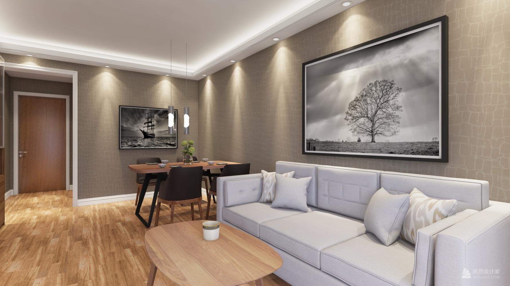 现代风格一室两厅装修设计图