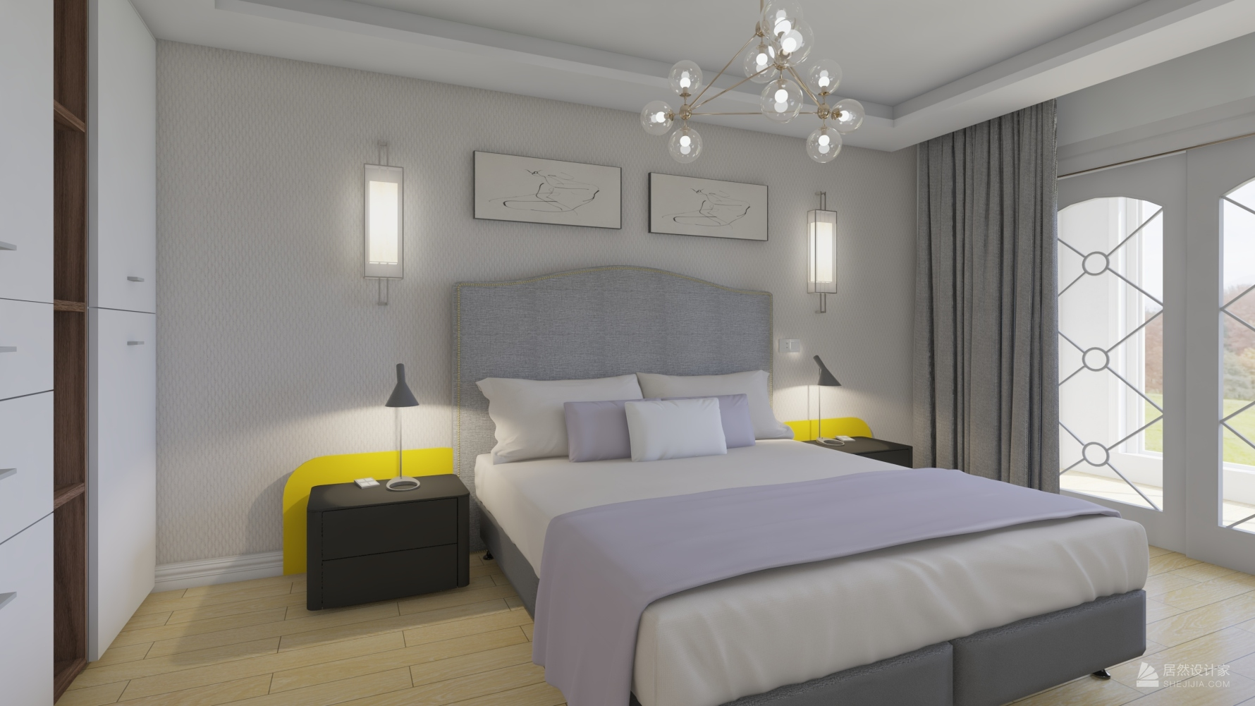现代风格五室两厅装修设计图