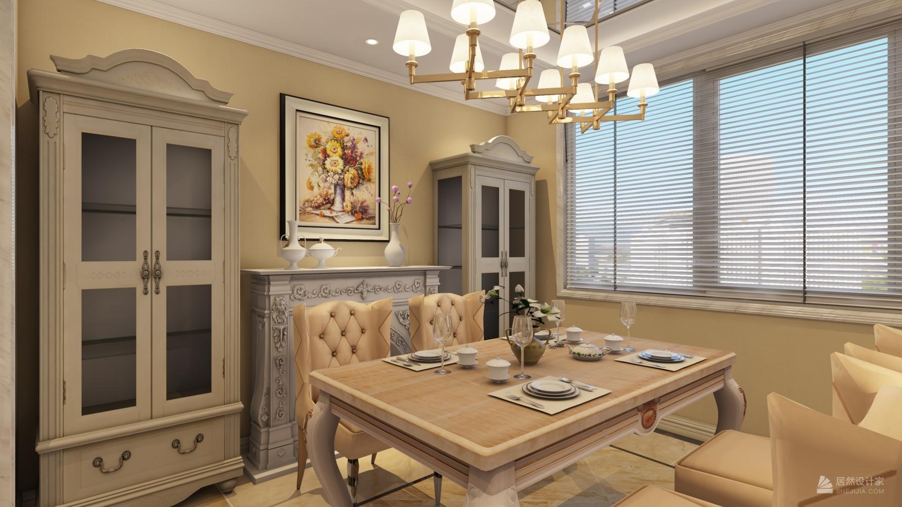 欧式风格一室两厅装修设计效果图