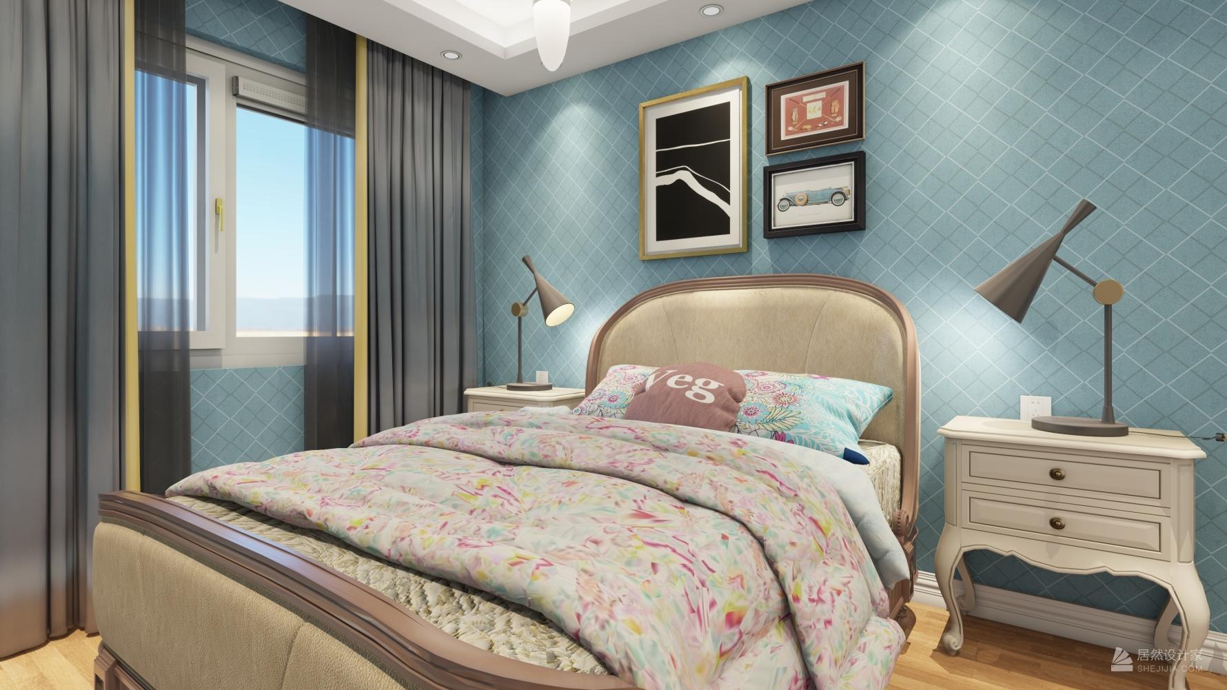 新古典风格两室两厅装修设计图