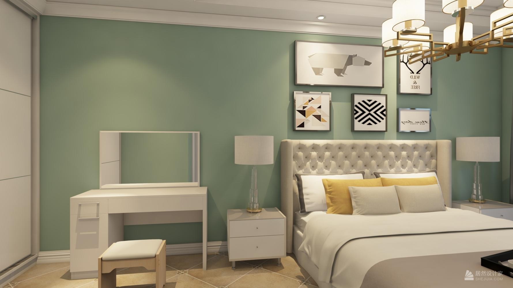 田园风格两室一厅装修设计图