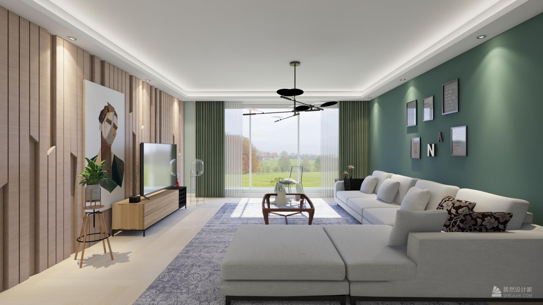 现代风格四室两厅装修设计图