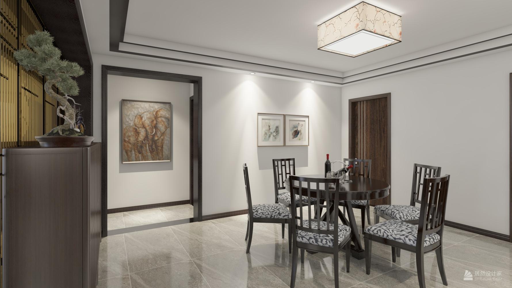 中式风格五室两厅装修设计图