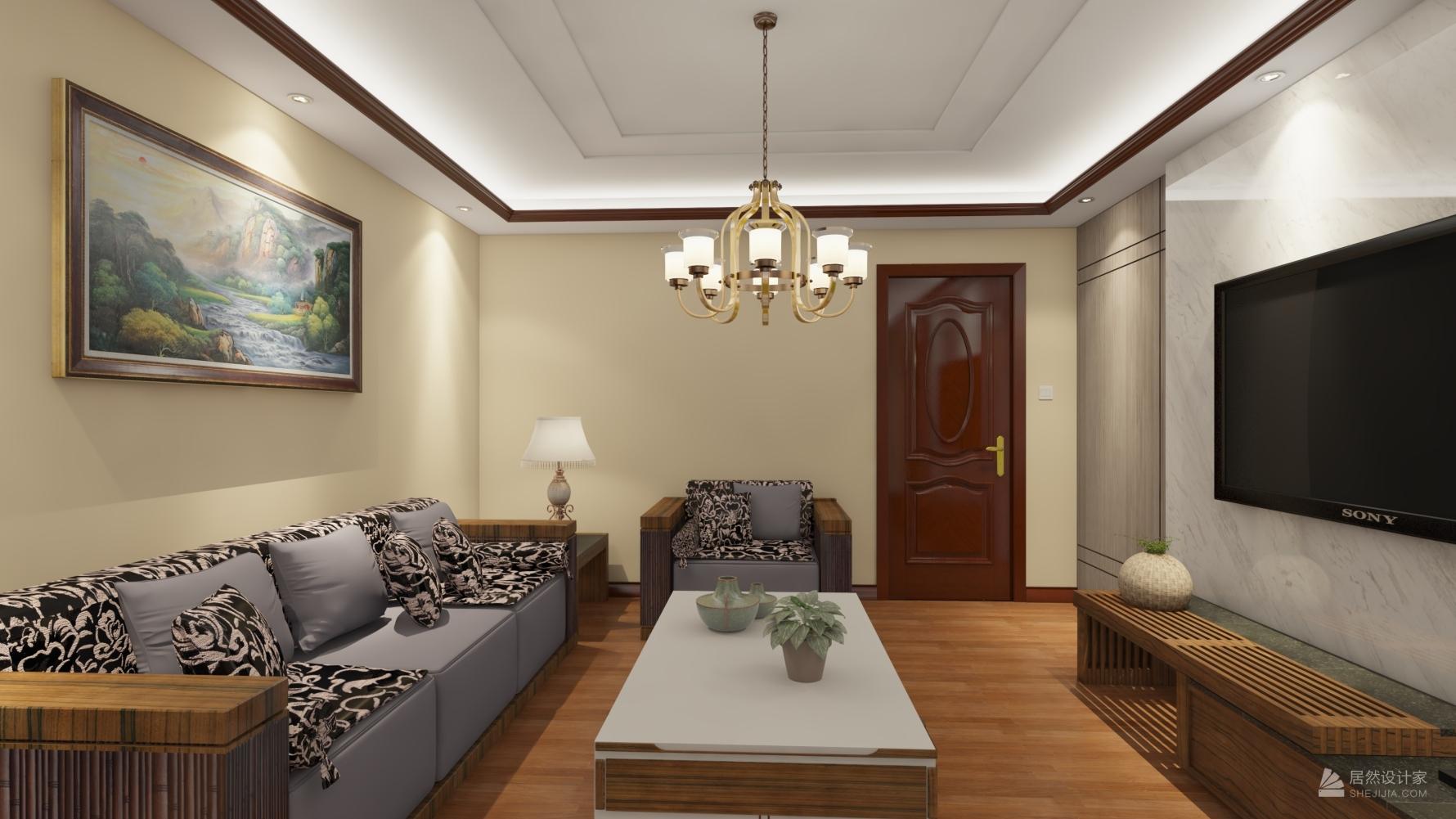 东南亚风格四室一厅装修设计图