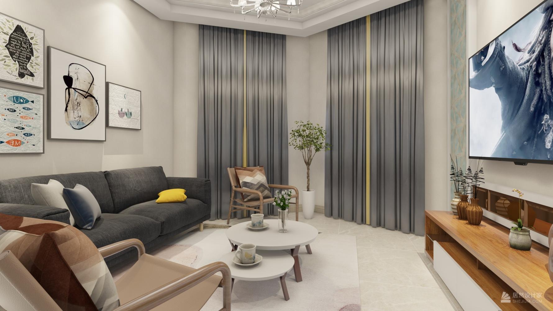 北欧风格一室一厅装修设计图