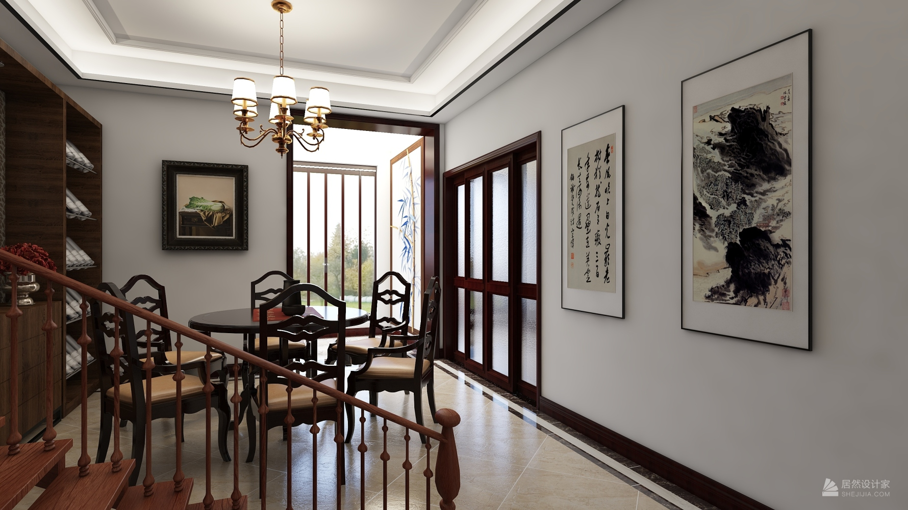中式风格六室三厅装修设计图
