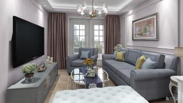 美式风格一室一厅装修设计效果图